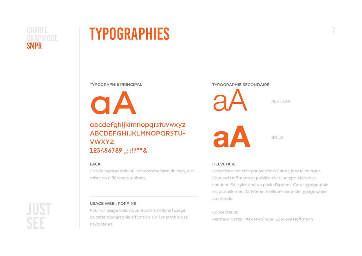 SMPR - Charte-typographies