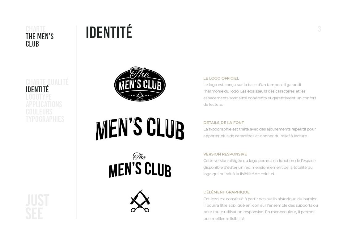 the men's club - Charte graphique4