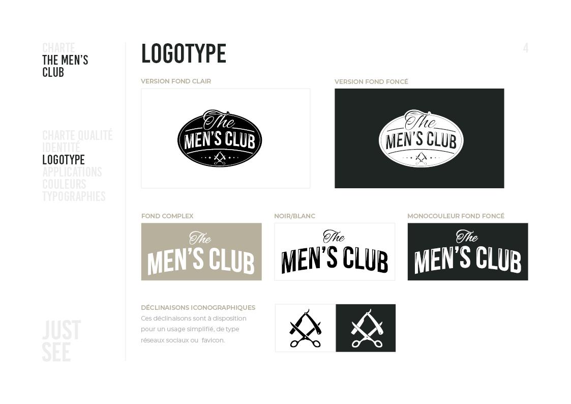 the men's club - Charte graphique5