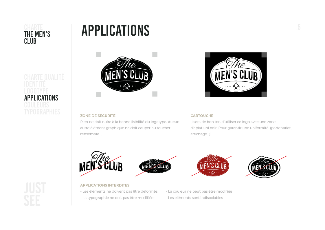 the men's club - Charte graphique6